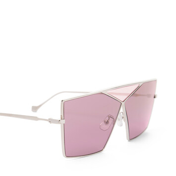 LOEWE Gafas Cuadradas Puzzle Oro Claro/Burdeos front