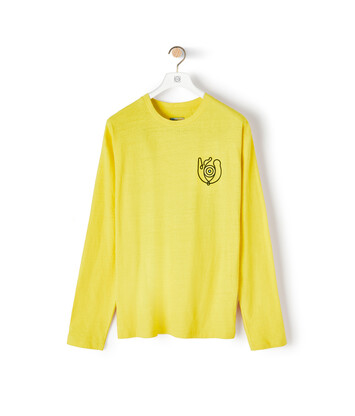 LOEWE Eln Long Sleeve T-Shirt Bright Yellow front