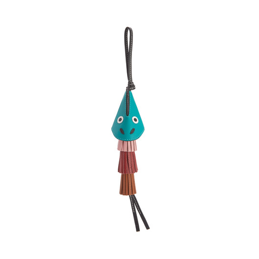 LOEWE Dragon Tassel Charm Emerald Green/Black front