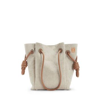 LOEWE Flamenco K Tote Logos S Bag Natural/Tan front