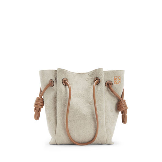 LOEWE Flamenco K Tote Logos S Bag Natural/Tan front