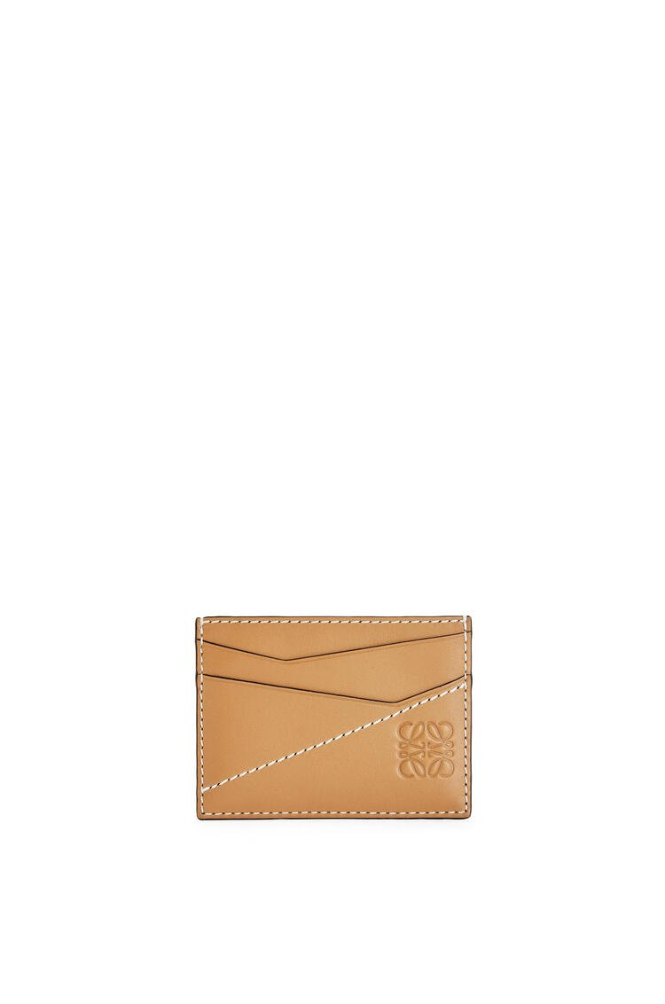 LOEWE Puzzle stitches plain cardholder in smooth calfskin Light Caramel pdp_rd
