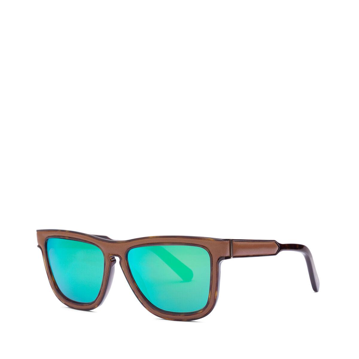 LOEWE Gafas Cuadradas Acolchadas Marron/Verde Espejo all