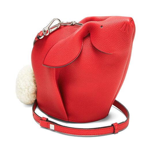 LOEWE Mini Bolso Conejo Rojo Escarlata all