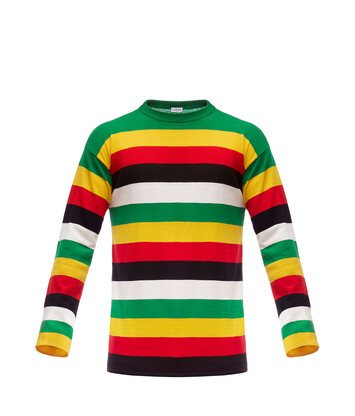 LOEWE Stripe Sweater Verde/Amarillo front