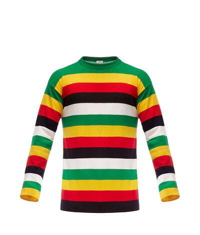 LOEWE Stripe Sweater 绿色/黄色 front
