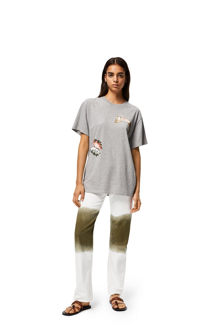 LOEWE T-shirt in mermaid cotton Grey Melange pdp_rd