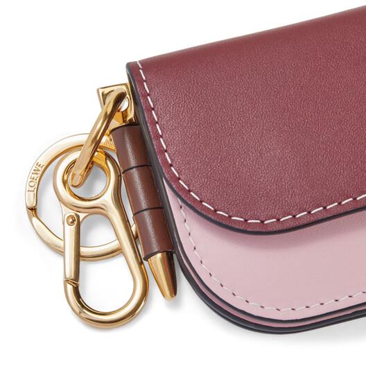 LOEWE Gate Mini Wallet Wine/Pastel Pink front
