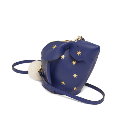 LOEWE Bunny Stars Mini Bag Royal Blue/Gold front