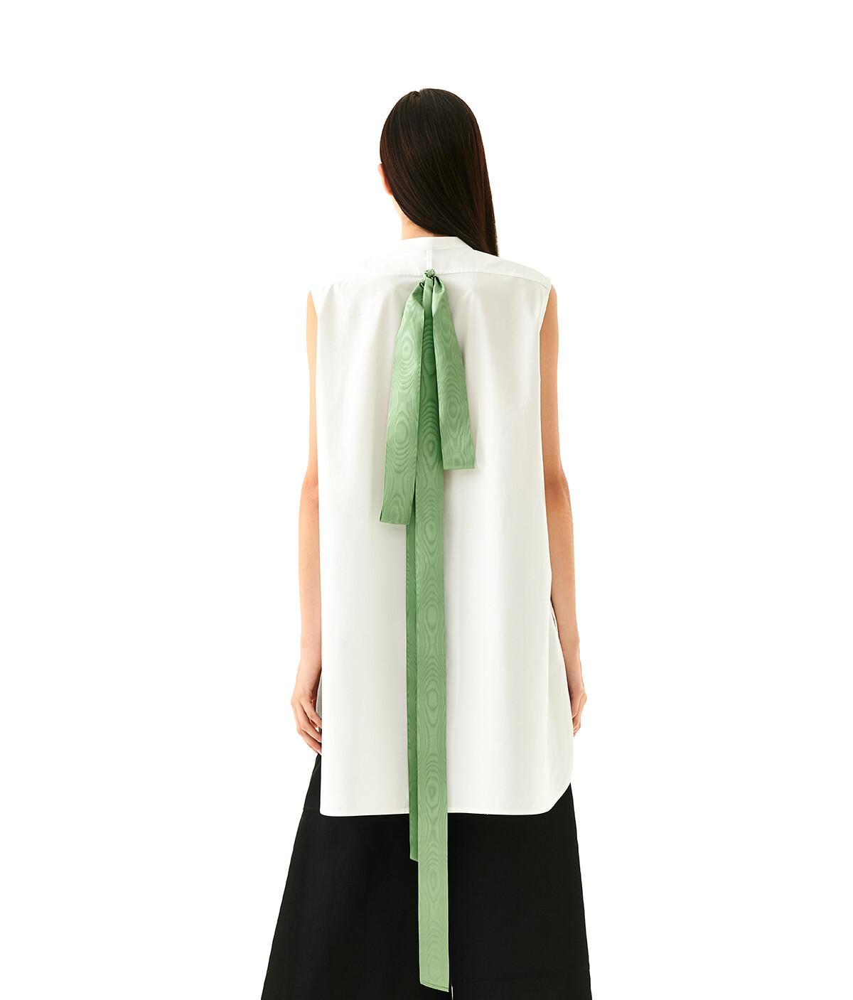 LOEWE Sleeveless Bib Shirt White front
