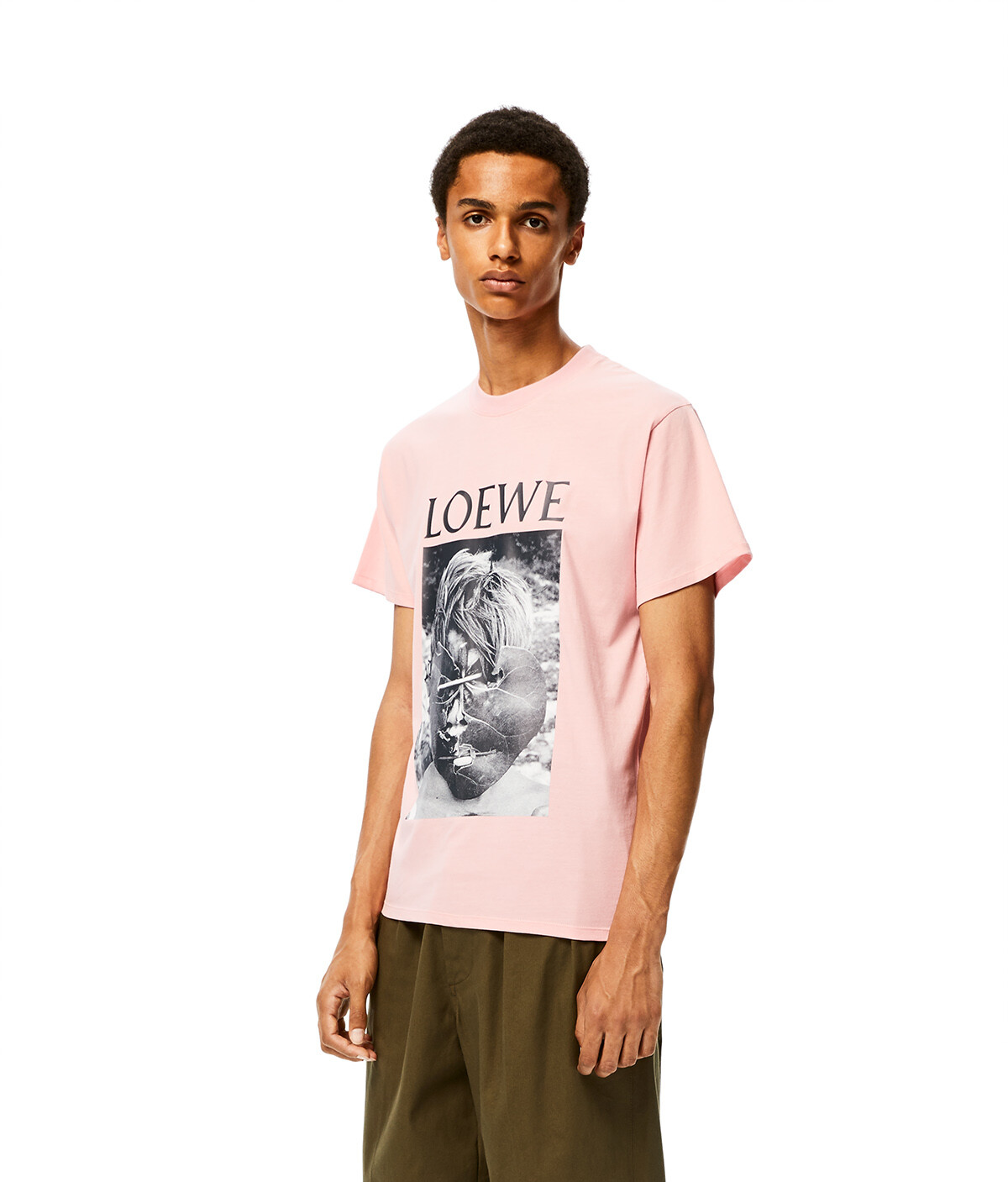 LOEWE Ken Heyman T- Shirt Baby Pink front