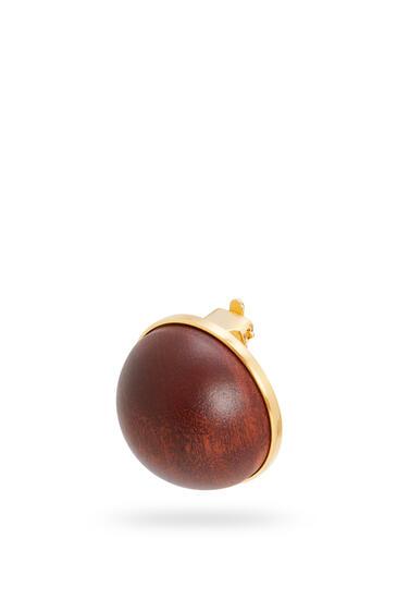 LOEWE Globe earring in wood Brown pdp_rd