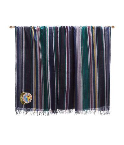 LOEWE 152X210 Scarf Stripes Marron Oscuro/Verde front