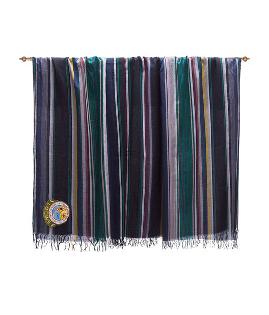 LOEWE 152X210 Scarf Stripes Dark Brown/Green front