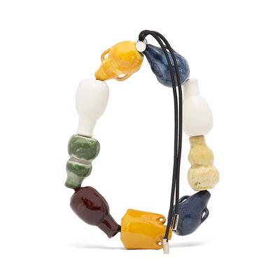 LOEWE Jar Chocker Multicolor/Black front