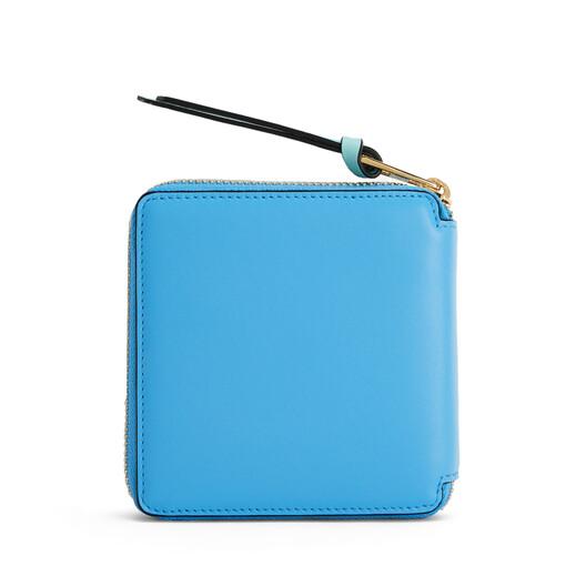 LOEWE Color Block Square Zip Wallet Sky Blue/Mint  front