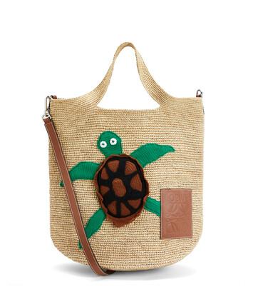 LOEWE Paula's Slit Turtle Bag Natural front