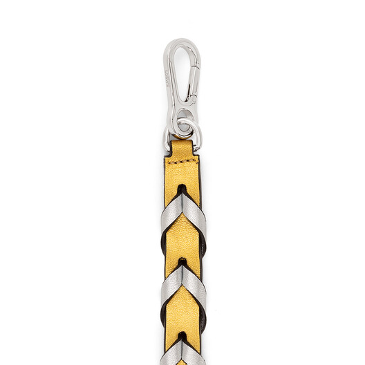 LOEWE Braided Thin Strap Gold/Silver front