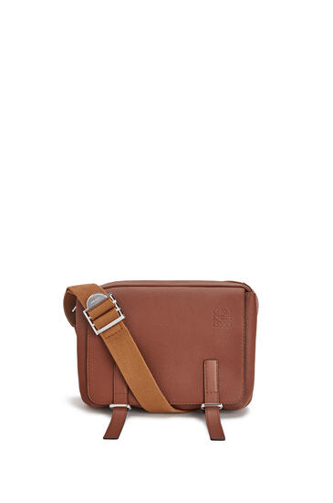 LOEWE XS Military messenger bag in soft grained calfskin Cognac pdp_rd