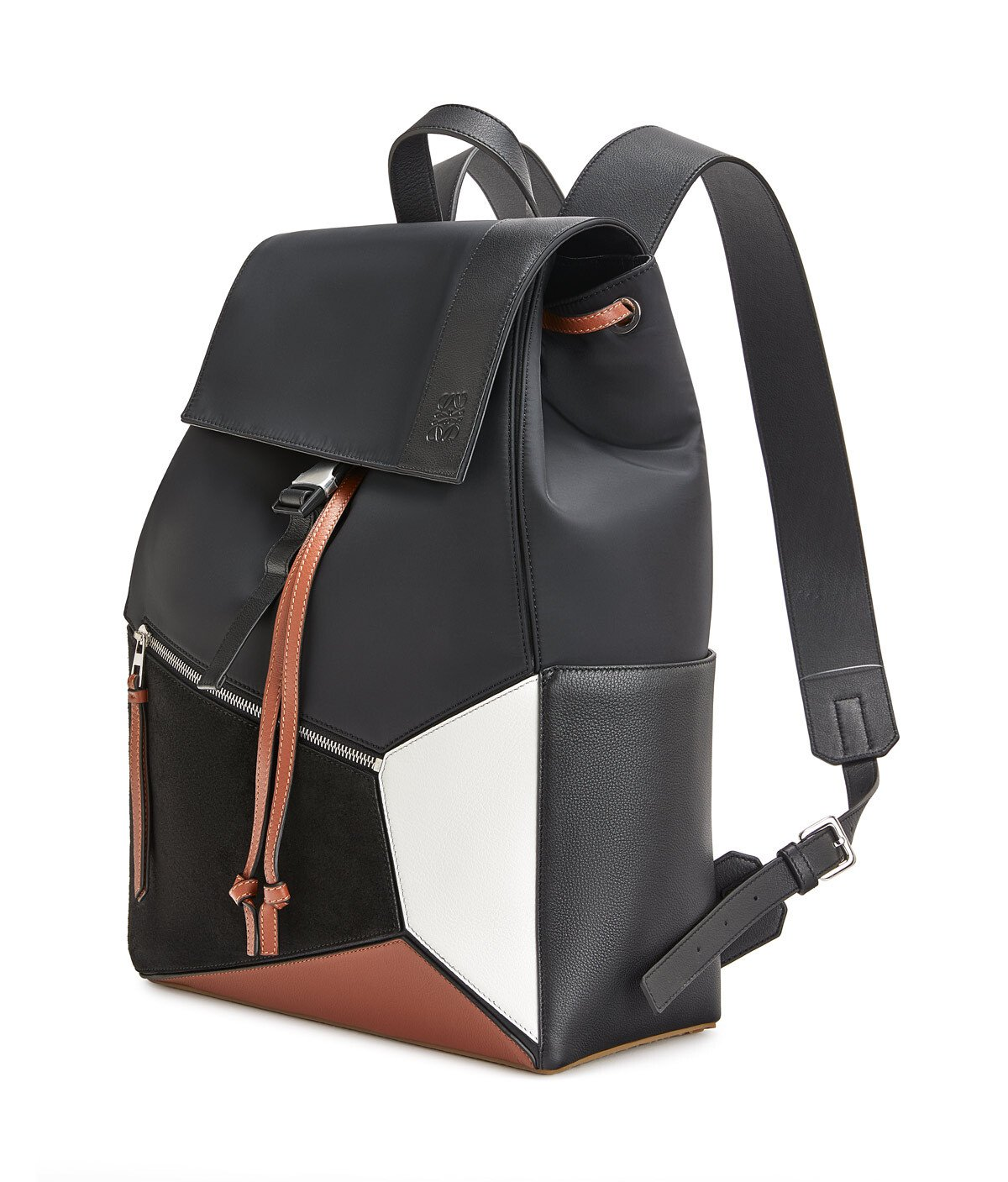 LOEWE Puzzle Trainers Backpack Black/Tan front