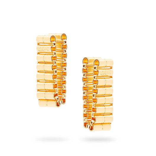 LOEWE Chain Earrings Gold front