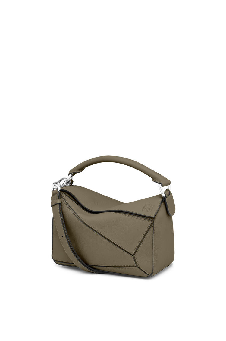 LOEWE Small Puzzle bag in soft grained calfskin Khaki Green pdp_rd
