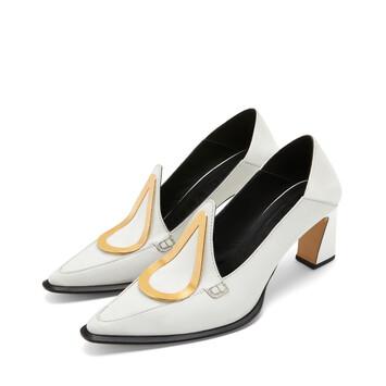 LOEWE Heel Loafer Drop 70 白色 front