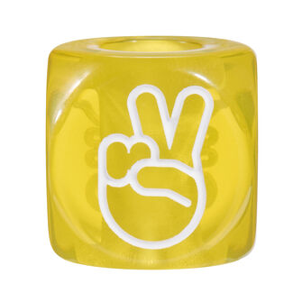 LOEWE Hands Signs Big Dice 黄色 front