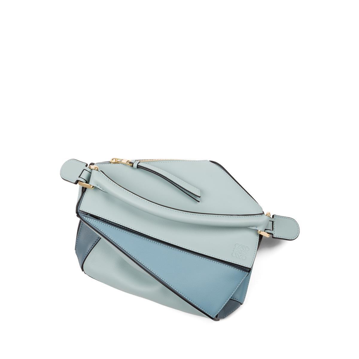 LOEWE Puzzle Small Bag アクア/ライトブルー/ストーンブルー all