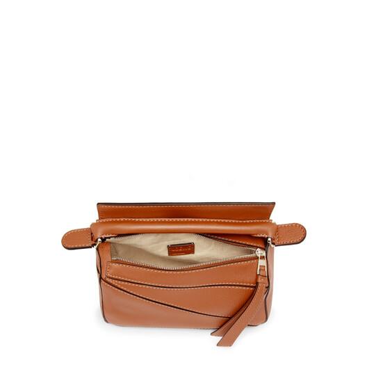 LOEWE Puzzle Mini Bag Tan front