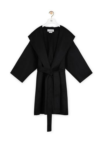 LOEWE Hooded Coat Negro front