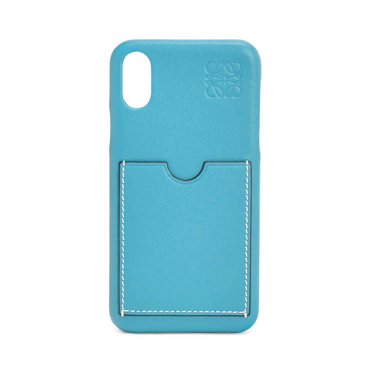 LOEWE Cover For Iphone X Peacock Blue front