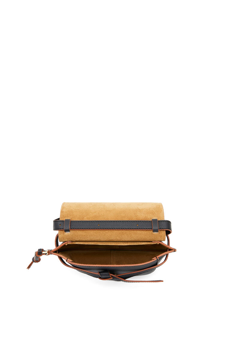 LOEWE Mini Gate dual bag in pebble grain calfskin Black pdp_rd