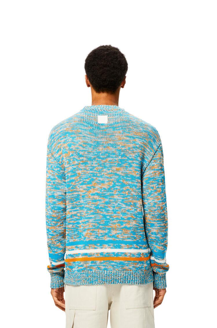 LOEWE Melange Sweater In Cotton Turquoise/Orange pdp_rd