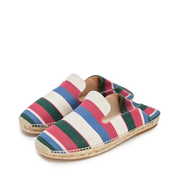 LOEWE Slipper Espadrille Pink/Green/Light Blue front
