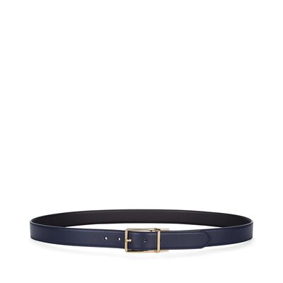 LOEWE Formal Belt 3.2Cm Adj/Rev Navy Blue/Black/Gold front