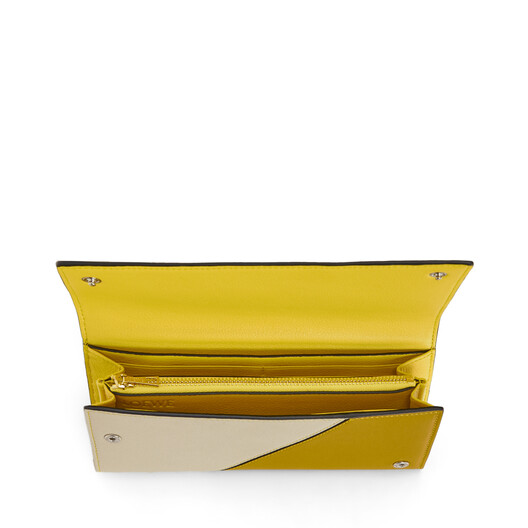 LOEWE Puzzle Continental Wallet Ochre/Yellow front