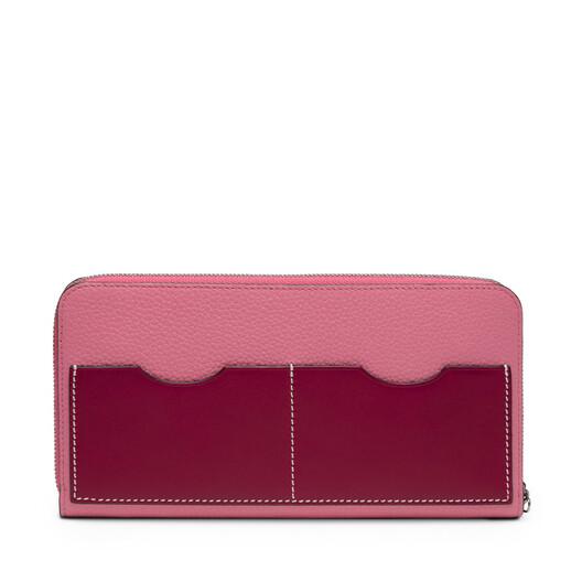 LOEWE Zip Around Wallet Wild Rose/Raspberry front
