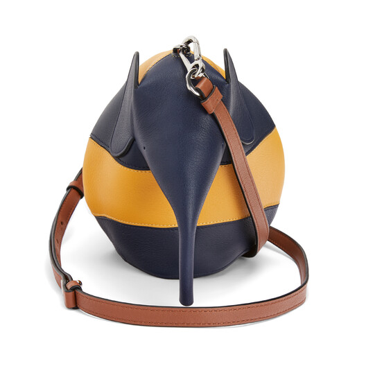 LOEWE Elephant Rugby Mini Bag Yellow Mango/Marine front