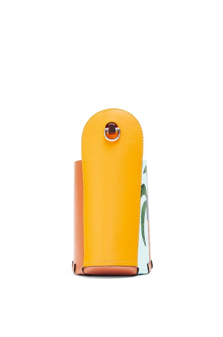 LOEWE Easter Island Bamboo Bucket bag in calfskin Yellow Mango/Multicolor pdp_rd
