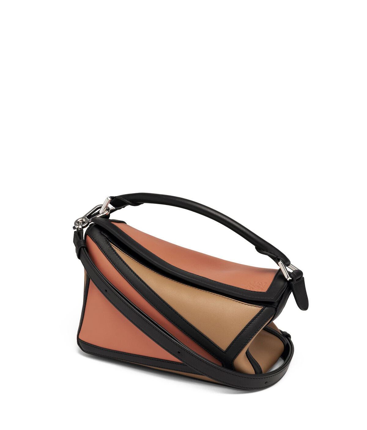 LOEWE Bolso Puzzle Graphic Pequeño Rosa Tulipan/Mocca all