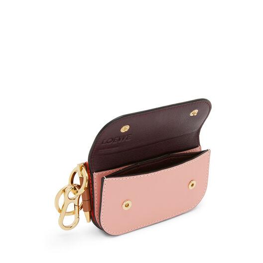 LOEWE Gate Mini Wallet Orange/Blossom front