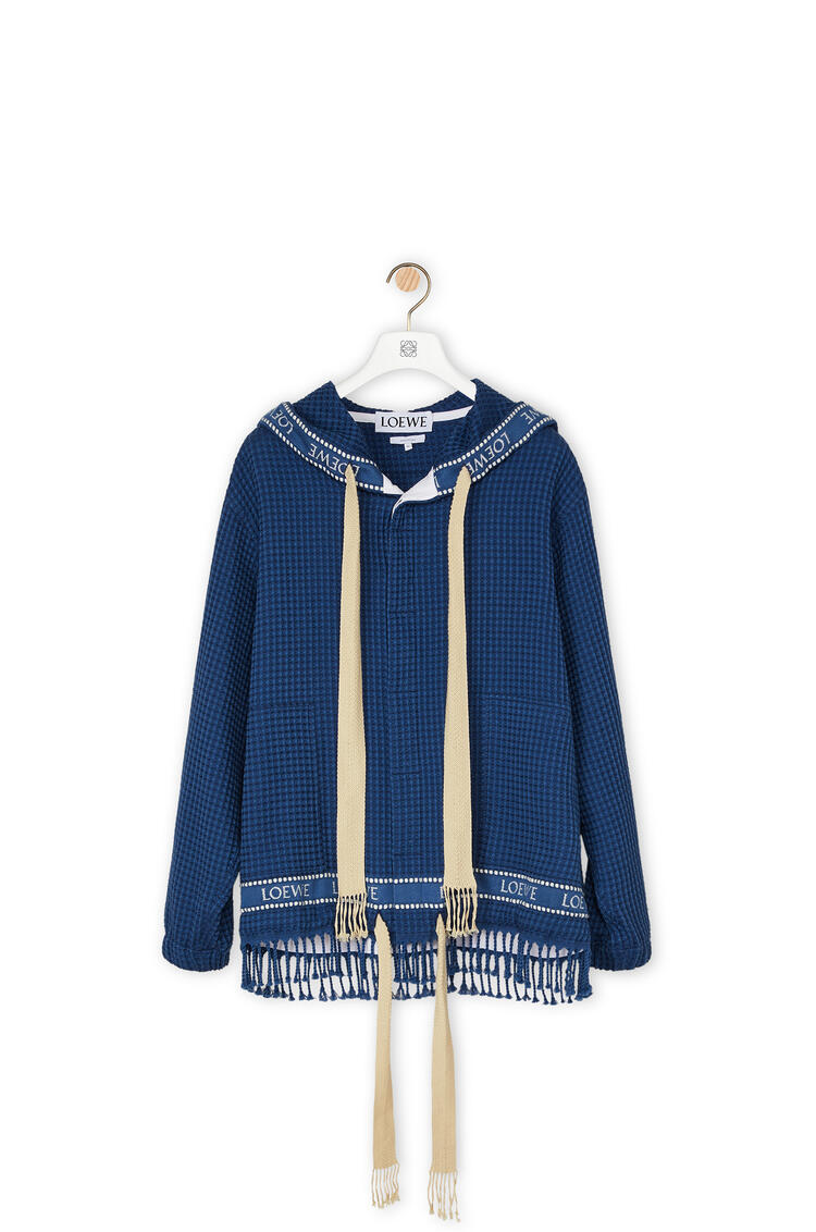 LOEWE LOEWE trim hood jacket in cotton Navy Blue pdp_rd