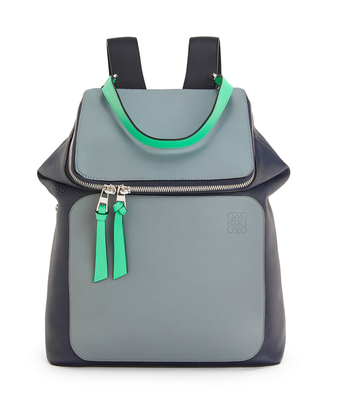 LOEWE Goya Backpack Deep Blue/Green front