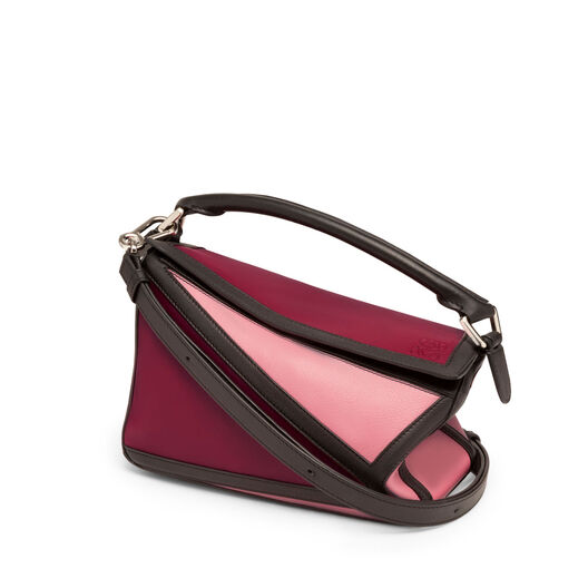 LOEWE Puzzle Graphic Small Bag Raspberry/Wild Rose all