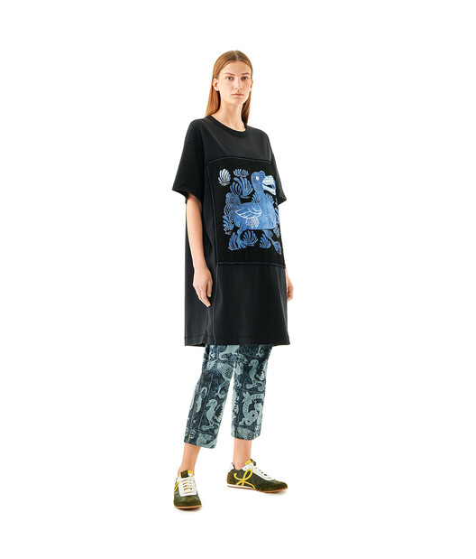 LOEWE Oversize T-Shirt Dodo Black front