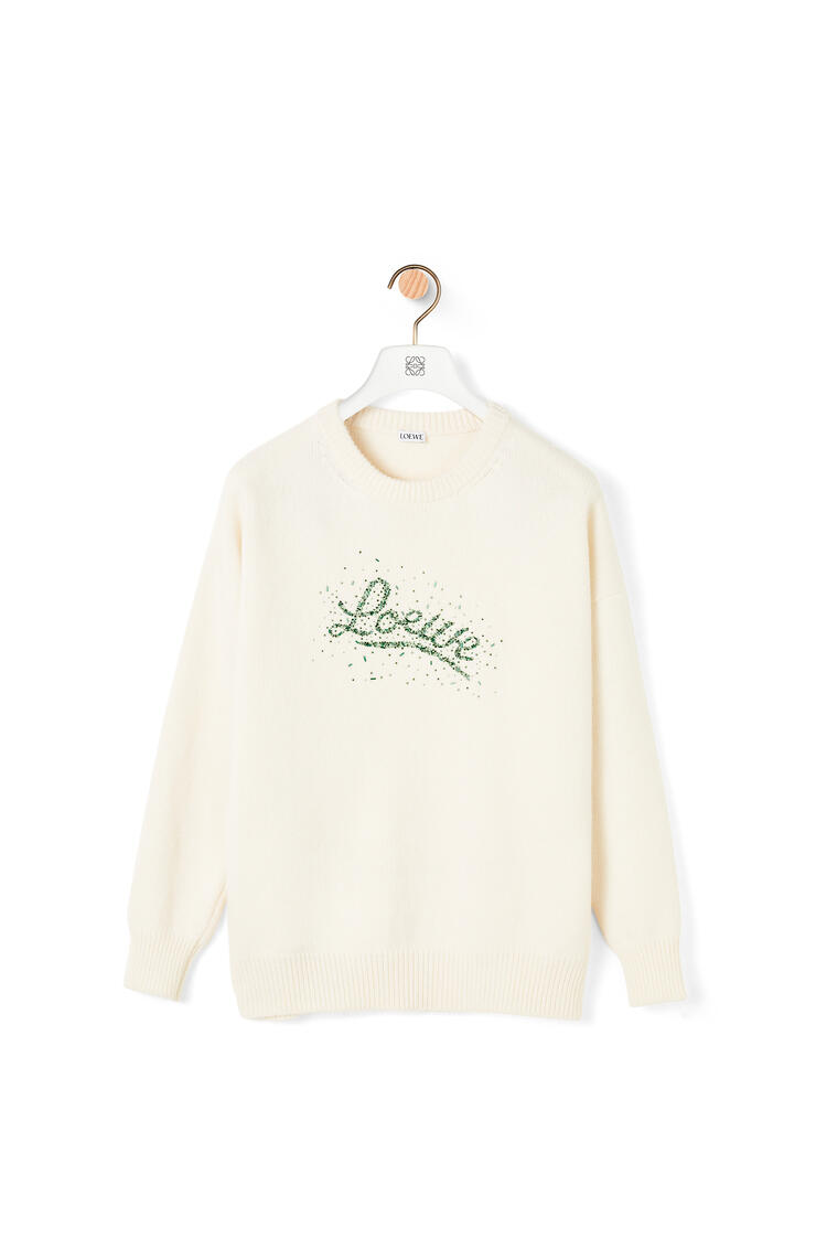 LOEWE LOEWE beads sweater in wool Off-white pdp_rd