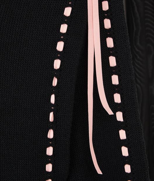 LOEWE Drawstring Poloneck Bolero Negro front