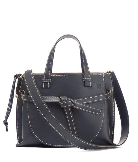 LOEWE Gate Top Handle Bag Midnight Blue all