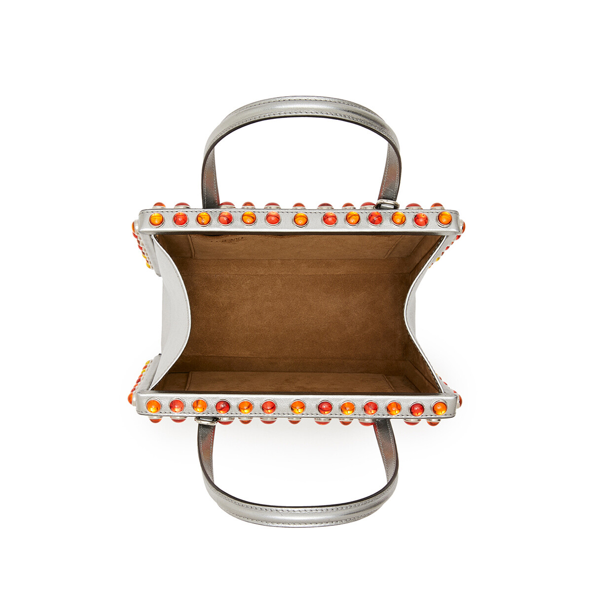 LOEWE Postal Cabochon Bag シルバー front